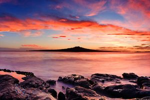 Rangitoto Insel Wandern Neuseeland Auckland