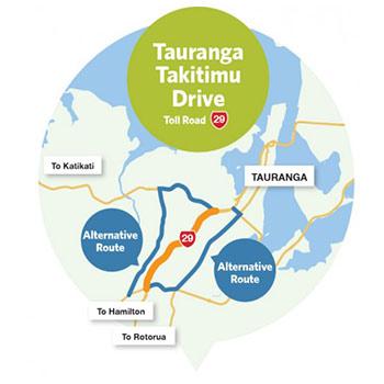 Takitimu Drive Mautstrasse Neuseeland