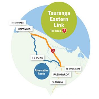 Tauranga Eastern Link Mautstrasse Neuseeland